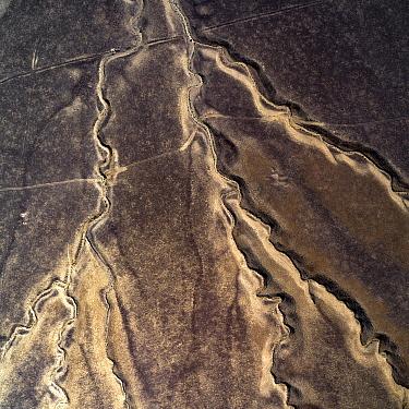 Cracks in mud volcanoes, Azerbaijan.
