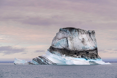 Iceberg in Hall Bredning, Scoresby Sund, Greenland, August.