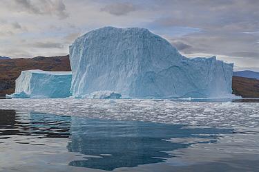 Iceberg in Hare Fjord, Scoresby Sund, Greenland, August.