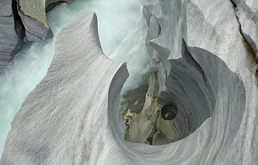 Marble formations in Glomdalen, Saltfjellet-Svartisen National Park, Rana, Nordland, Norway, June 2006