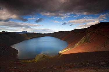 Ljotipollur crater lake, Fjallabakka Nature Reserve, Iceland, August 2010
