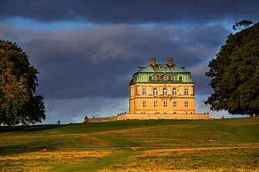 18th century royal hunting lodge in Baroque style at Jaegersborg Dyrehaven forest park north of Copenhagen, Denmark. September 2018
