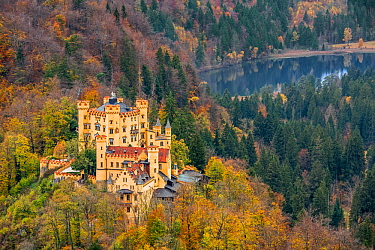 Hohenschwangau Castle, 19th-century palace and childhood residence of King Ludwig II of Bavaria at Hohenschwangau, Bavaria, Germany, October 2019