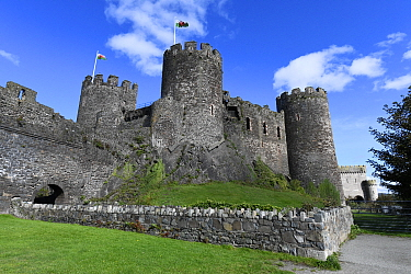 Conwy Castle built by Edward I between 1283 and 1289, UNESCO World Heritage Site, Gwynedd, Wales.