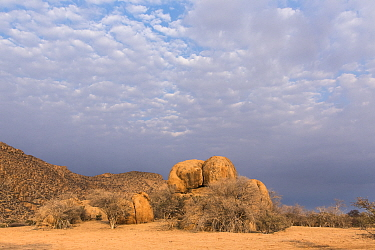 Rocky landscape of the Erongo Mountain Conservancy, Namibia