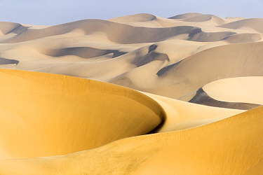 View of sand dunes, Walvis Bay, Namibia, Africa