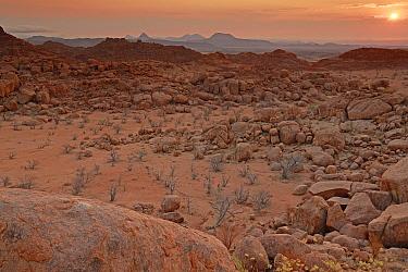 Rocky landscape of Damaraland, Namibia, Africa