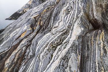 Coastal landscape with marble formations. Tomma Island, Helgeland Archipelago, Norway.