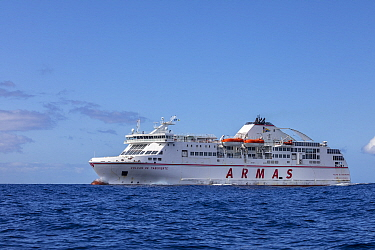Ferry from Los Christianos, Tenerife to San Sebasti�n de La Gomera, Tenerife, Canary Islands, Atlantic Ocean.