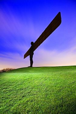 The Angel of the North at dusk, Gateshead, Tyne and Wear, England, UK, February 2008.