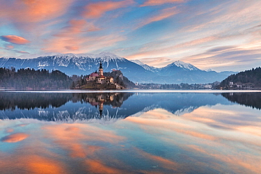 Lake Bled in winter, Slovenia, January 2015.