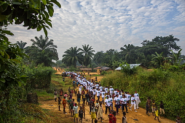 WWF organized march for women in conservation in Malebo, Democratic Republic of the Congo.
