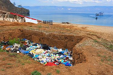 Landfill on Olkhon Island, Baikal Lake Baikal, Siberia, Russia. June.