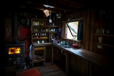 ?Kitchen of the Emily and and Sharon Small, and home of the Goongerah Wombat Orphonage?. Goongerah, Victoria, Australia?. February, 2020. Editorial use only.