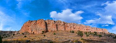Cliffs in Hoces del Rio Riaza Natural Park, Castille and Leon, Spain, October 2018.