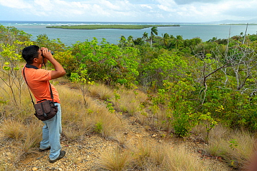 Birdwatching in Yamaniguey, Humboldt National Park, Cuba. March 2019.