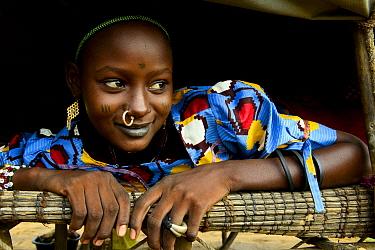 Portrait of Kanoumoudji girl, nomadic herders of southern Chad. September 2019.