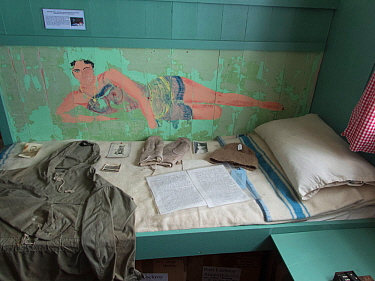 Paintings on the wall of the abandoned Port Lockroy British Base in Antarctica.