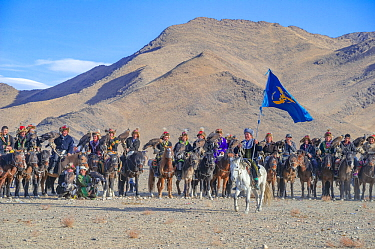 Opening ceremony, at the Eagle Hunters festival near Ulgii, Western Mongolia.