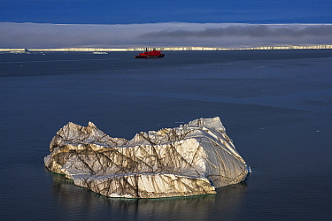 Iceberg off Franz Jozef Land, Arctic Russia. July 2019