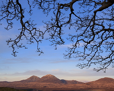Paps of Jura from Islay, Scotland, UK, March.