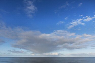 Clouds over North Sea, view from Brouwersdam, Zeeland, The Netherlands. November 2019.