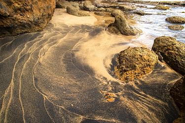 Sandy beach with rocks. Pointe Baptiste, Dominica, Lesser Antilles. 2020.