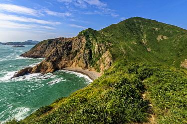 Coastline landscape, High Island, Hong Kong Global Geopark, China November 2016.