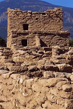 Anasazi ruins at Puye cliffs NM, New Mexico, USA