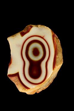 Chalcedony, variety agate (SiO2) from Rio Grande do Sul, Brazil.