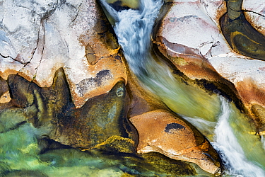 Boulders fast flowing river, Valle Verzasca, Canton of Ticino, Switzerland