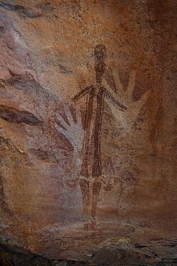 Aboriginal rock art, Gwion Gwion style, Jar Island, Kimberley coast, Western Australia