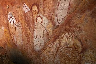 Aboriginal rock art, Wandjina style, Raft Point, Kimberley, Western Australia