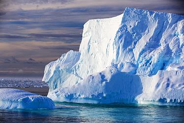 Icebergs in Southern Ocean, near Lemaire Channel, Kiev Peninsula, Graham Land, Antarctica. December 2019.