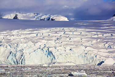 Ice shelf in the Lemaire Channel, Kiev Peninsula, Graham Land, Antarctica. December 2019.