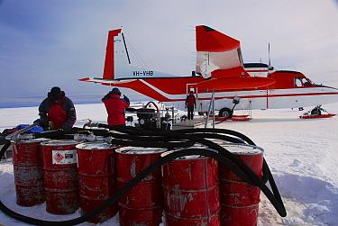 Refuelling CASA planes, Davis icecap, Antarctica February 2007