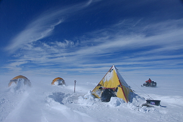 Field camp on the ice cap, Antarctica January 2007