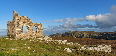 Horn Head Signal Tower, derelict on Coastguard Hill, County Donegal, Ireland. August 2020.