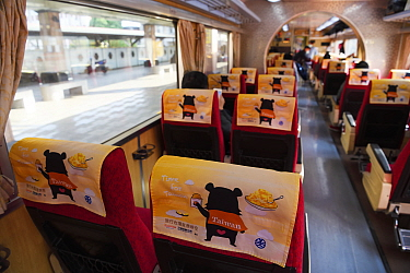 Taiwan Black bear on headcovers in Taiwan's trains, and the mascot for the rail carrier. Taiwan.