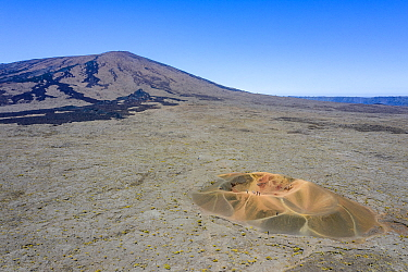 Piton de la Fournaise, one of the most active volcanoes on the planet, Reunion island.