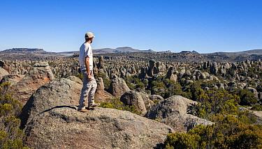 Photographer Will Burrard-Lucas, self portrait taken over-looking the granite formations, Rafu, Ethiopia, December.