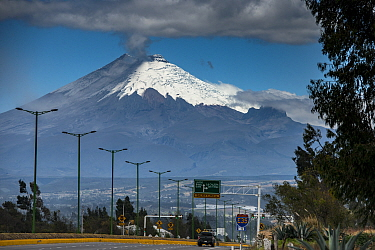 Cotopaxi Volcano, an active volcano which errupted in mid August 2015. Intermittent explosions continue with the release of gas, steam and ash. Cotopaxi National Park, Avenue of the Volcanoes, Andes,...
