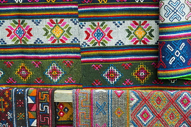Yatra woven wool cloth, Bumthang, Bhutan. September 2013.