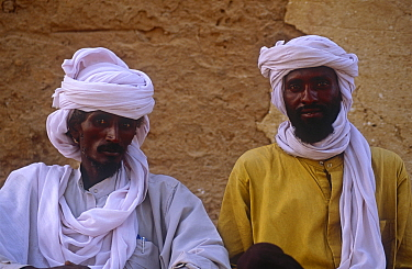 Portrait of two Toubou tribesmen in Sigadine village, northern Niger, 2005.