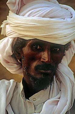 Portrait of Toubou tribesman in Sigadine village, northern Niger, 2005.