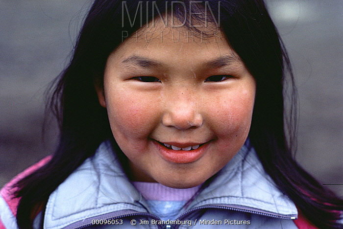 Inuit girl, Ellesmere Island, Nunavut, Canada  -  Jim Brandenburg