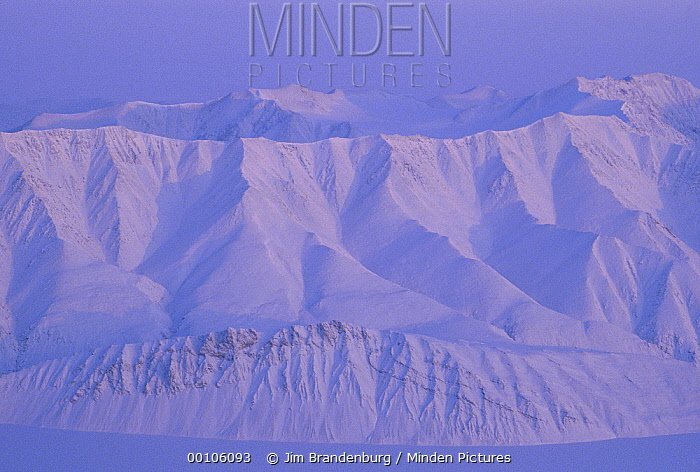 Snow covered mountains, Ellesmere Island, Nunavut, Canada  -  Jim Brandenburg