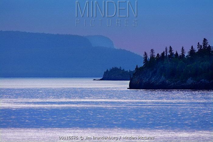 Lake Superior at dusk, Minnesota  -  Jim Brandenburg