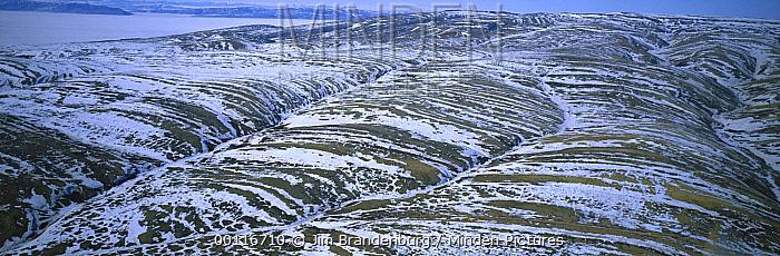 Aerial view of Ellesmere Island, Nunavut, Canada  -  Jim Brandenburg