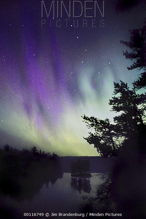 minden pictures stock photos the big dipper and aurora borealis